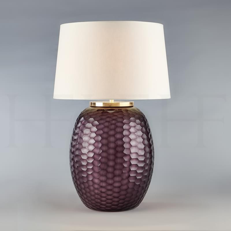 Tl167 L Mala Table Lamp Large Amethyst Honeycomb L