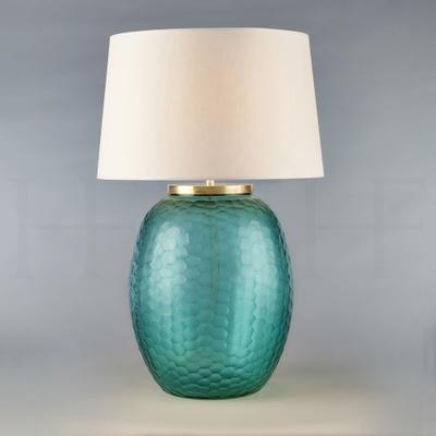 Mala Table Lamp, Large, Aquamarine, Honeycomb