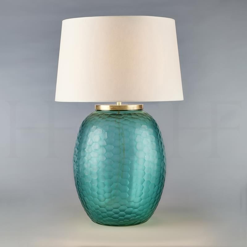 Tl169 L Mala Table Lamp Large Aquamarine Honeycomb L