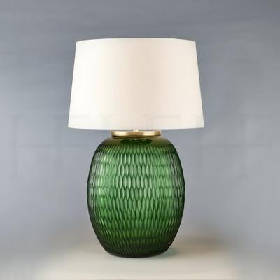 Mala Table Lamp, Large, Emerald, Diamond