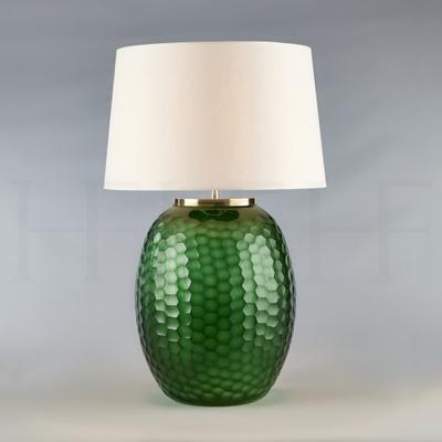 Mala Table Lamp, Large, Emerald, Honeycomb