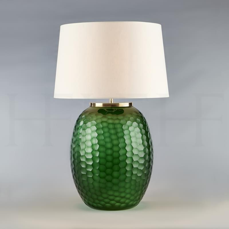 Tl164 L Mala Table Lamp Large Emerald Honeycomb L