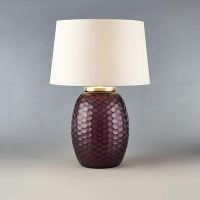 Mala Table Lamp, Medium, Amethyst, Honeycomb