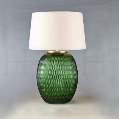 Mala Table Lamp, Medium, Emerald, Diamond