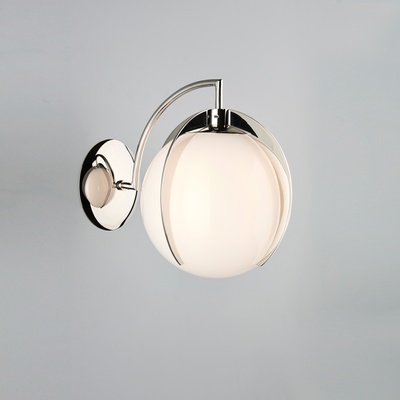 Opal Claw Globe Wall Light