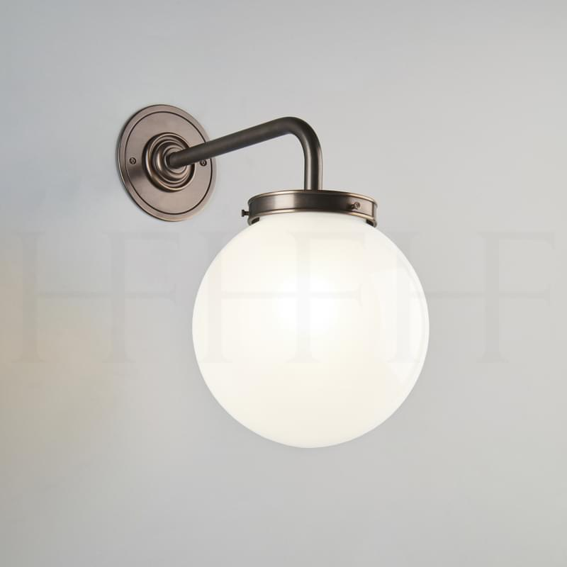 Wl44 Opal Globe Wall Light L