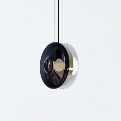 Orbital Pendant, Clear Black