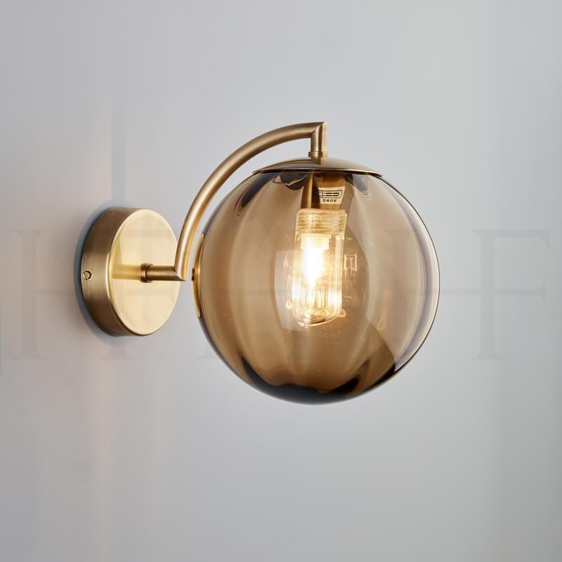 Wl401 Paola Wall Light Marrone Ab L