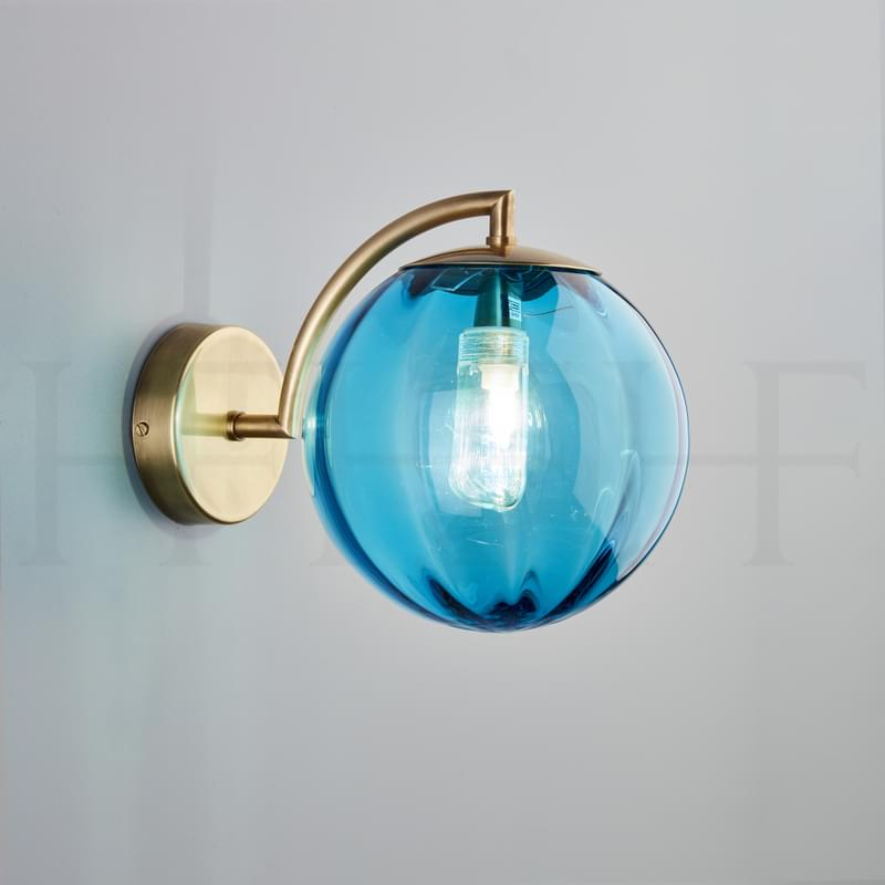 Wl401 Paola Wall Light Turchese Ab L