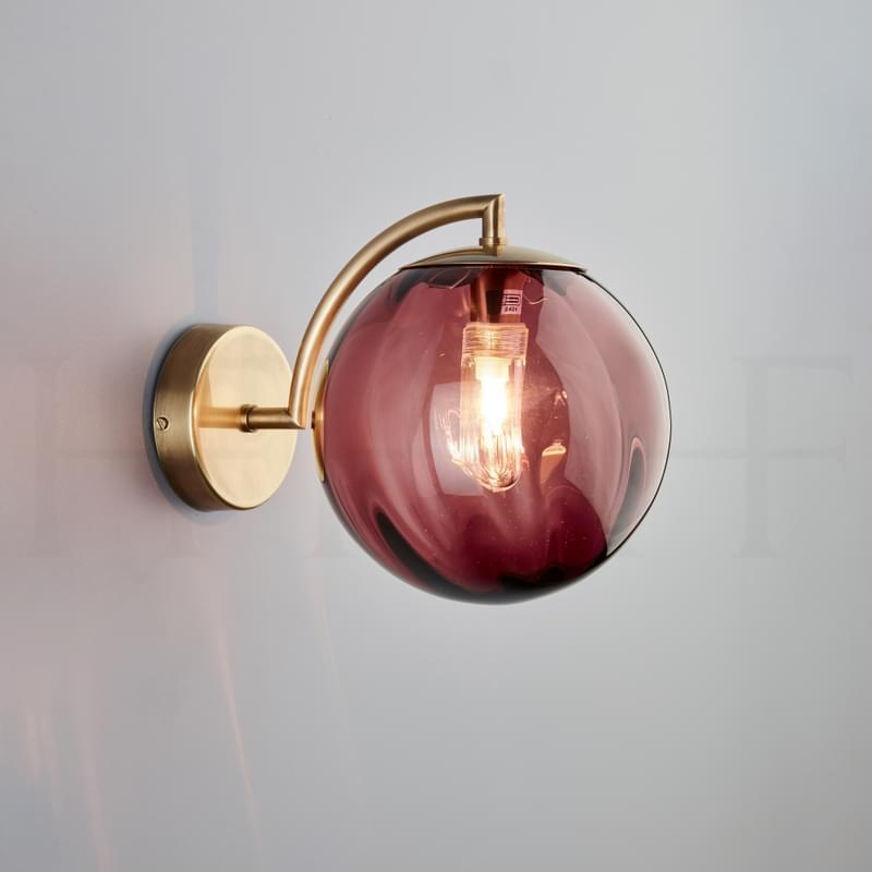Wl401 Paola Wall Light Viola Ab L