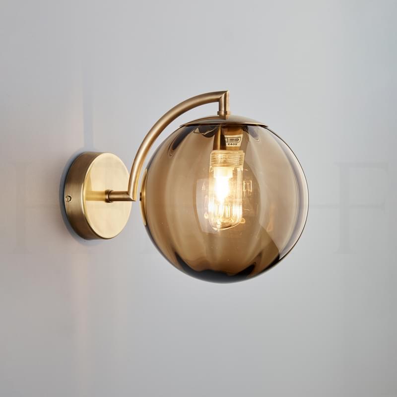 Wl401 Paola Wall Light Marrone Ab L