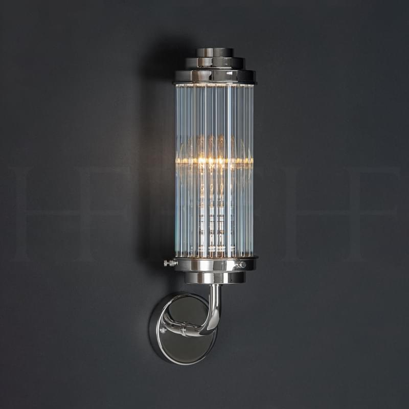 Wl312 Reed Wall Light Clear Glass L