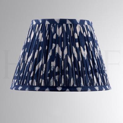 Samarkand Indigo Zigzag Cotton Shade