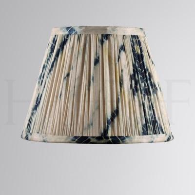 Samarkand Shibori Indigo Pushka Tie-Dye Silk Shade