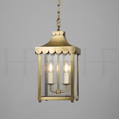 Scallop Edge Hanging Lantern