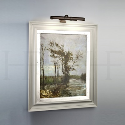 Selina Frame Mounted Picture Light, Medium