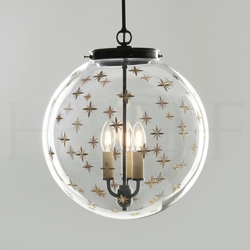 Pl105 L Star Etched Globe Large L