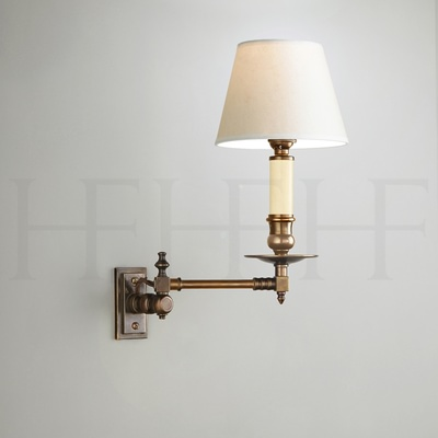 Swing Arm Wall Light with rectangular backplate