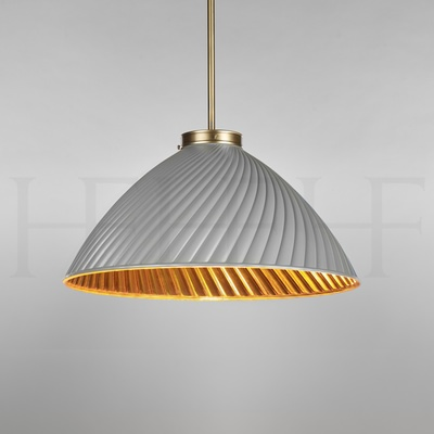 Tiber Pendant With Gold Interior, Large