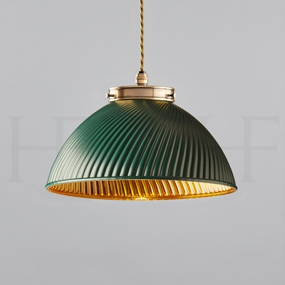 Tiber Pendant, Small with Gold Interior