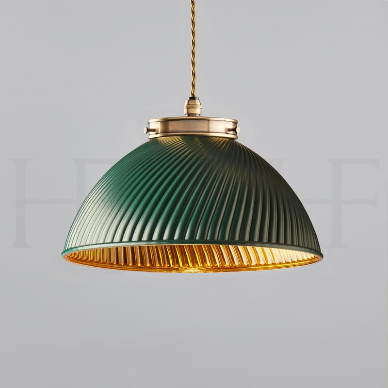Pl135 S Tiber Pendant Small Green With Gold Interior Ab L