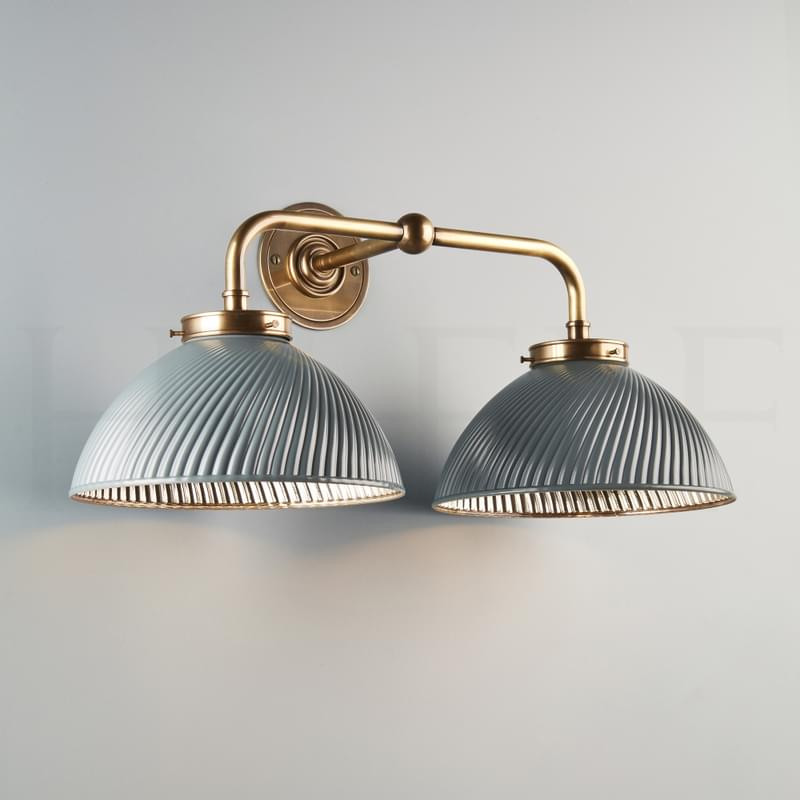 Wl14 Tiber Wall Light Double Grey Ab L