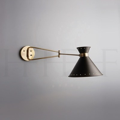 Tom Swing Arm Wall Light with Switch