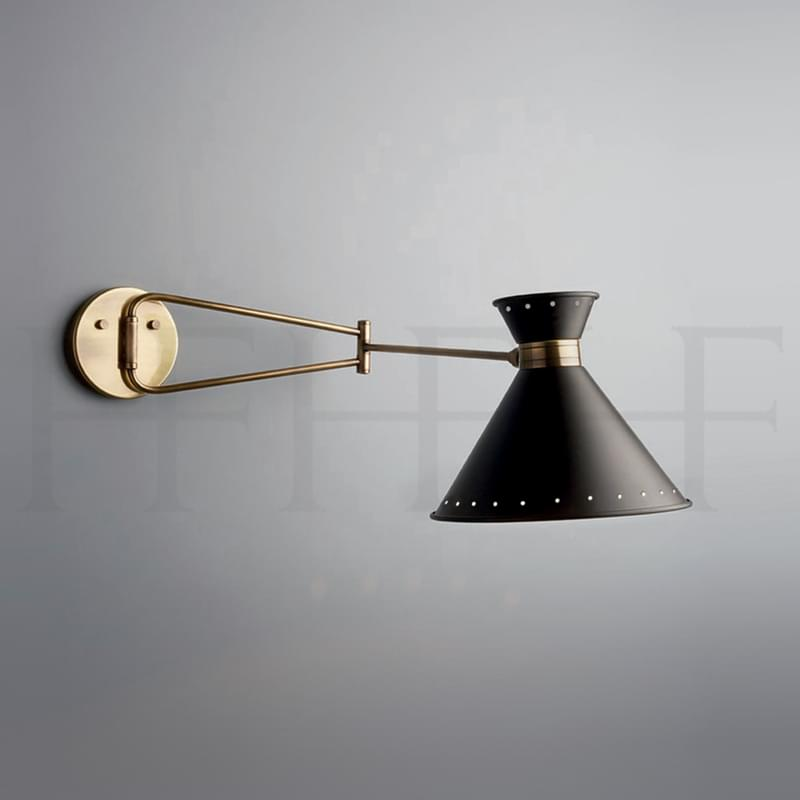Wl292 Tom Swing Arm Wall Light With Spots L