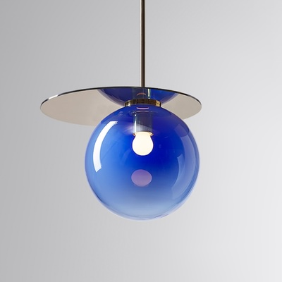 Umbra Pendant Blue, Gold Disc