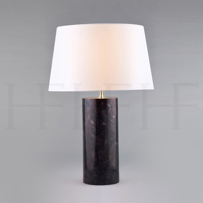 Violet Oyster Shell Table Lamp