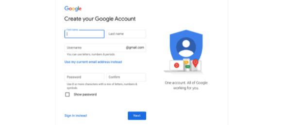 Google Account set-up