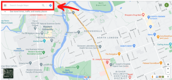 Search for business on Google Maps