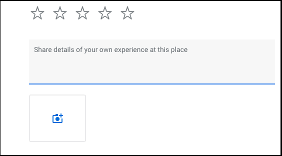Google review share your review example