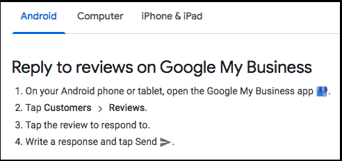 Reply to reviews on Google My Business via Android