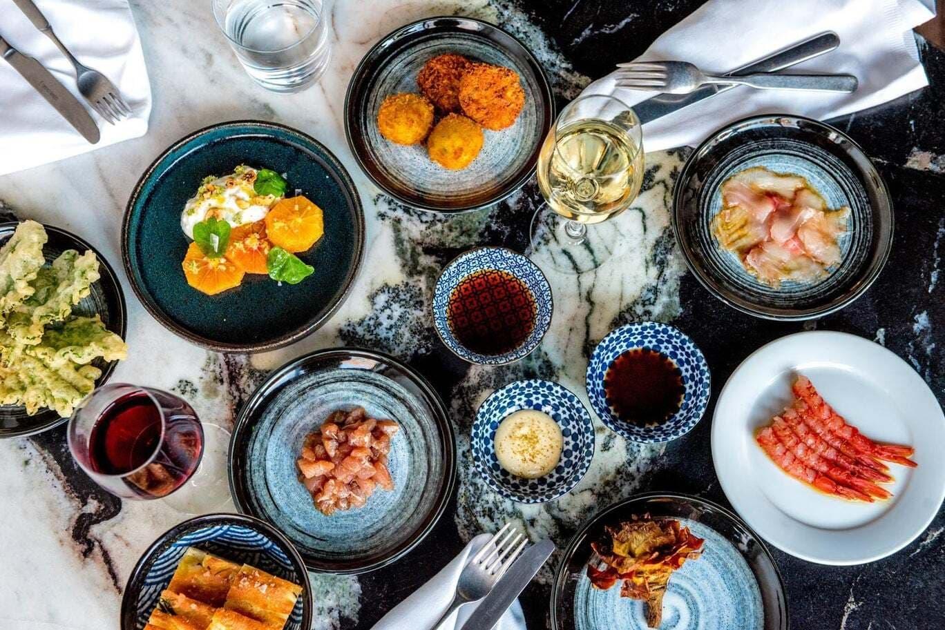 Italian-Japanese inspired menu at Angelina Restaurant, Dalston, London