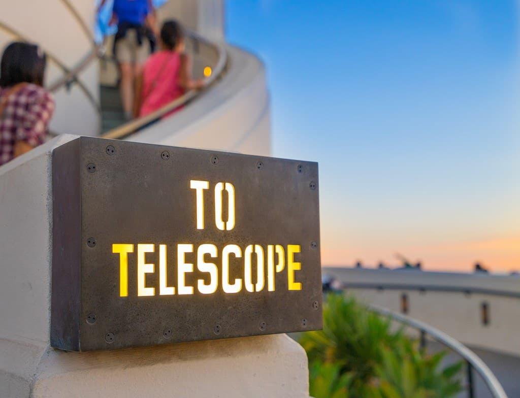 'To Telescope' Sign