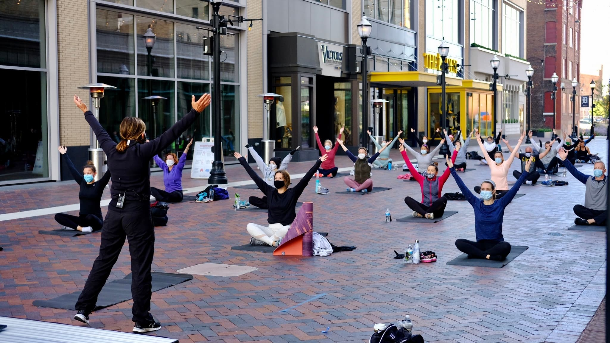 Yoga in the District Detroit