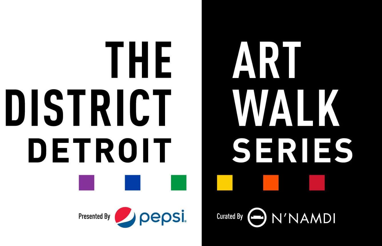The District Detroit Art Walk Series 2021 logo