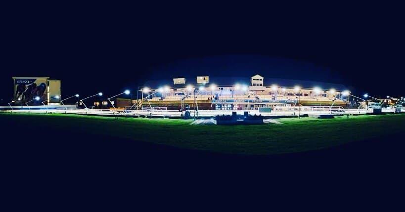 Night Track Pano