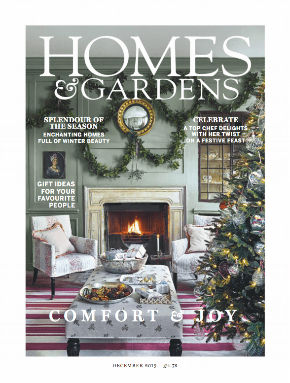 Homes Amp Gardens Uk  December 2019 Cover