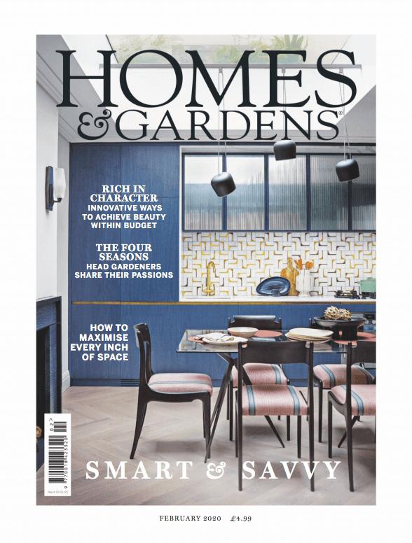 Homes Amp Gardens Uk  February 2020 Cover