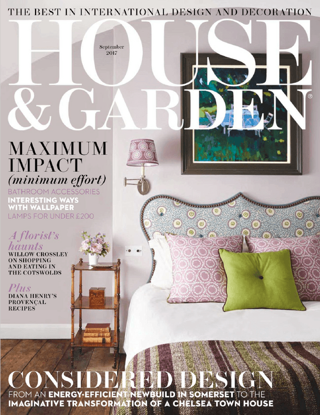 House And Garden  September 2017 Cover