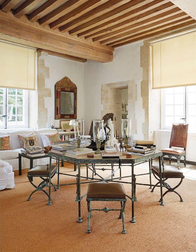 Giacometti chelsea textiles guvenchy octagonal bronze table