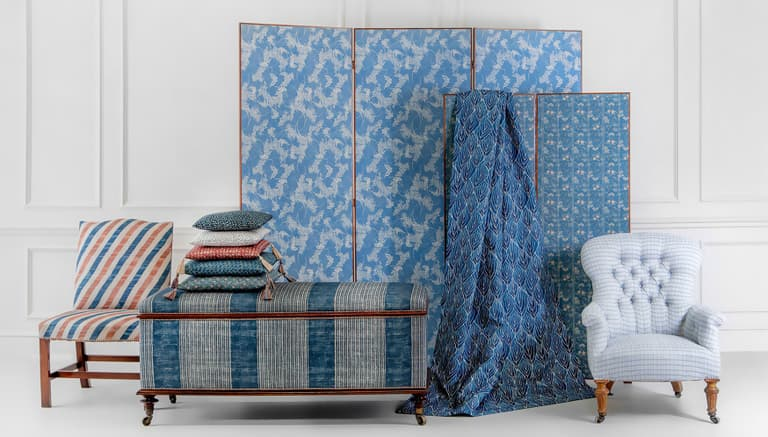 Banner Large Robert Kime Tory Burch Nara Collection Chelsea Textiles