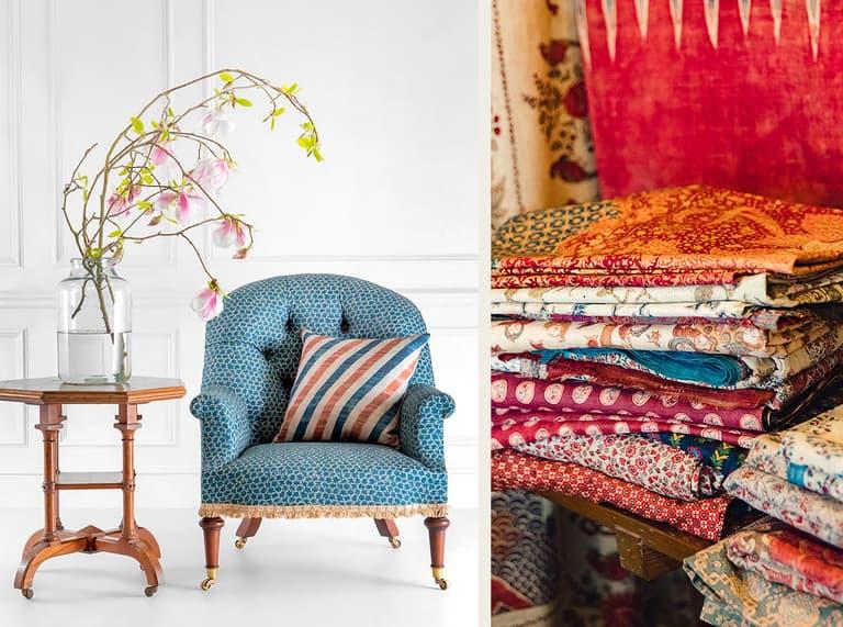 Chair Robert Kime Tory Burch Nara Collection Chelsea Textiles