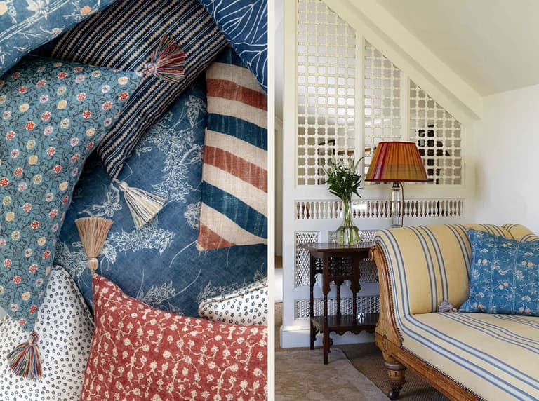 Cushions Robert Kime Tory Burch Nara Collection Chelsea Textiles