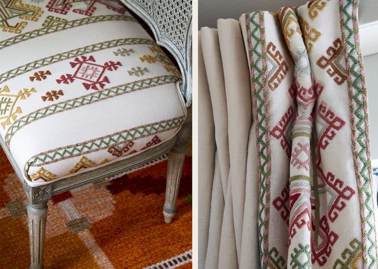 Kit Kemp Ashenwood Bench Curtains Chelsea Textiles