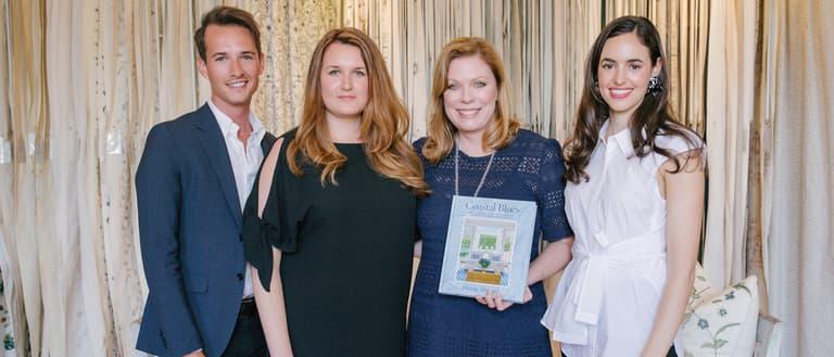 Coastal Blues Chelsea Textiles Showroom Book Launch Phoebe Howard