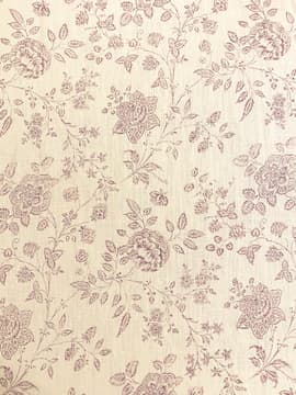 Clematis mauve printed fabric