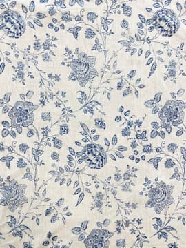 Clematis blue printed fabric